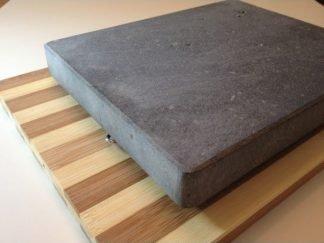 Set Bambu Piedra volcanica asar carne a la piedra 3cm de grosor