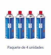 Cartuchos Recarga Cocina de Gas Portatil - Paquete de 4 botes