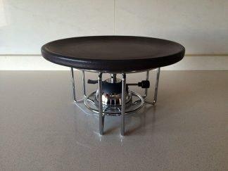 Quemador de gas con soporte y plato de ceramica refractaria 26 cm para carne a la piedra