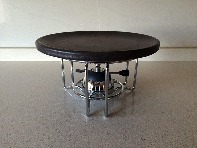 351-Quemador-de-gas-con-soporte-y-plato-de-ceramica-refractaria-para-carne-a-la-piedra